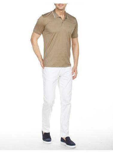Bisse TS19Y19112 Regular Fit Desenli Polo Yaka T-Shirt Bej